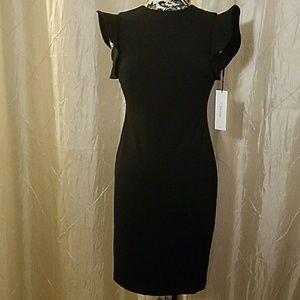 Calvin Klein black zip up dress, size 2